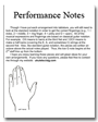 Performance Notes